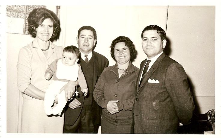 1966 Anthony Christening - Eleanor, Anna's parents (Mick & Wanda), Peter