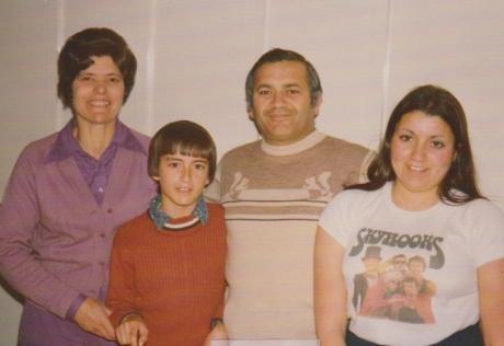 The Mazzone family; Eleonora, Anthony, Peter and Liz