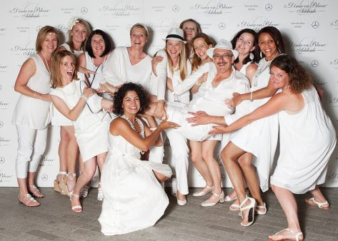 Centre of attention at the Diner en Blanc