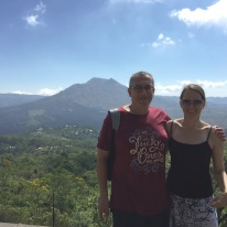 Anth and Jill at Mount Batur, Bali, 2015