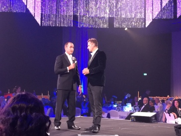 Flinders Foundation champion David Briggs being interviewed at the Ball.